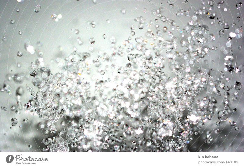perlenkette Wasser kalt glänzend Wassertropfen nass Vergänglichkeit Tropfen Schifffahrt feucht verteilen