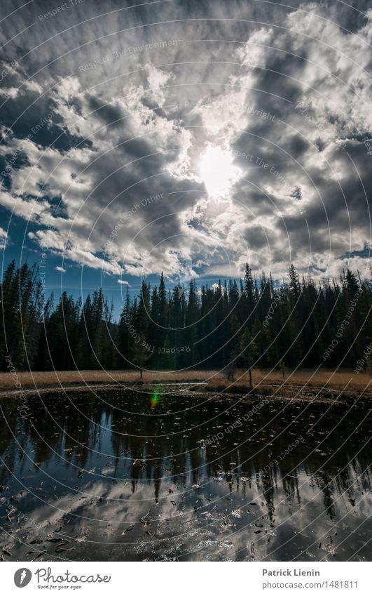 High Country Himmel Natur Ferien & Urlaub & Reisen Sonne Baum Landschaft Einsamkeit Wolken Wald Berge u. Gebirge Umwelt See Felsen Park Wetter Idylle