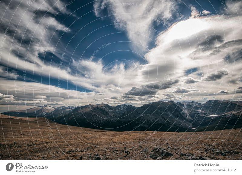 kontinentale Teilung Himmel Natur Ferien & Urlaub & Reisen Sonne Landschaft Einsamkeit Wolken Wald Berge u. Gebirge Umwelt See Felsen Park Wetter Idylle