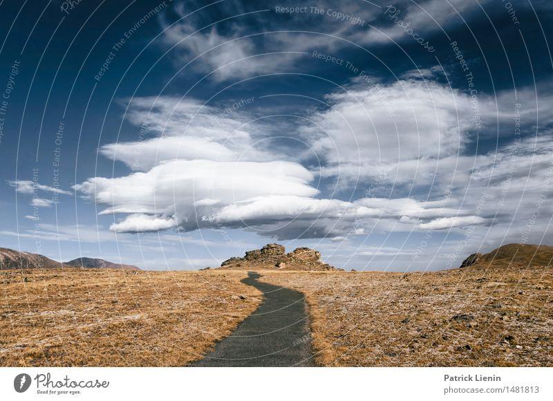 One Way Street Himmel Natur Ferien & Urlaub & Reisen Landschaft Einsamkeit Wolken Wald Berge u. Gebirge Umwelt Herbst See Felsen Park Wetter Luft Idylle