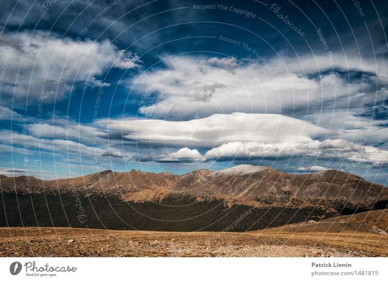 Rocky Mountain National Park Ferien & Urlaub & Reisen Abenteuer Berge u. Gebirge Umwelt Natur Landschaft Himmel Wolken Herbst Klima Klimawandel Wetter Wald