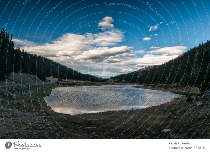 Himmel Natur Ferien & Urlaub & Reisen Landschaft Erholung Einsamkeit Wolken ruhig Ferne Wald Berge u. Gebirge Umwelt Leben See Felsen Park