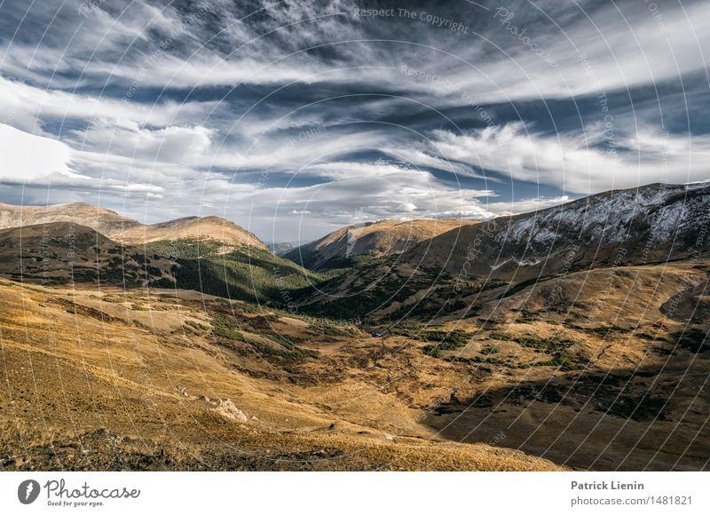 Rocky Mountains Himmel Natur Ferien & Urlaub & Reisen Landschaft Einsamkeit Wolken Wald Berge u. Gebirge Umwelt See Felsen Park Wetter Idylle Aussicht Klima