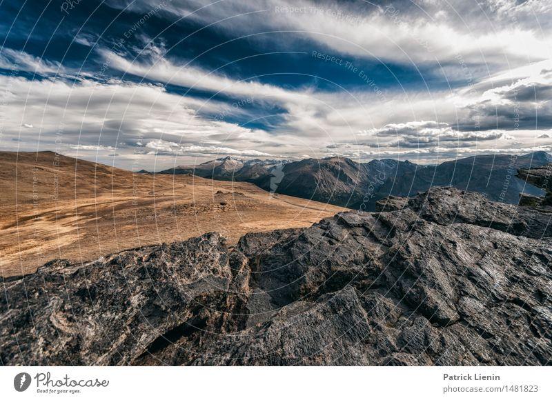 Unknown Territory Zufriedenheit Ferien & Urlaub & Reisen Tourismus Ausflug Abenteuer Ferne Freiheit Berge u. Gebirge wandern Umwelt Natur Landschaft Himmel