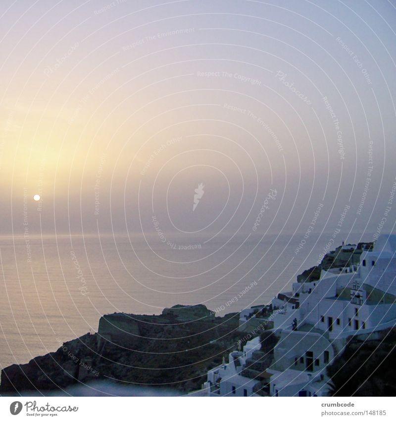 Hmm... Wasser schön Himmel Sonne Meer Sommer Ferien & Urlaub & Reisen Haus Ferne Stimmung Horizont Felsen Europa Insel Aussicht Reisefotografie