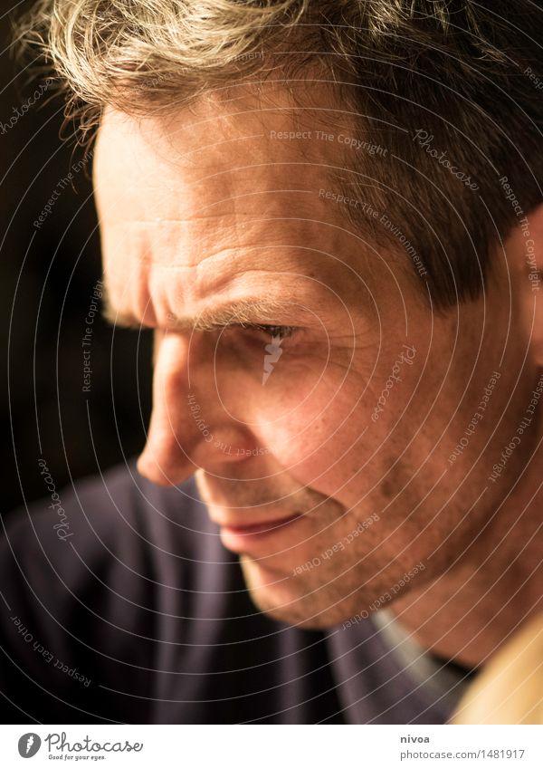schwager Mensch Mann alt Gesicht Erwachsene Gefühle Haare & Frisuren Kopf Stimmung maskulin Kraft Erfolg 45-60 Jahre beobachten einzigartig Nase