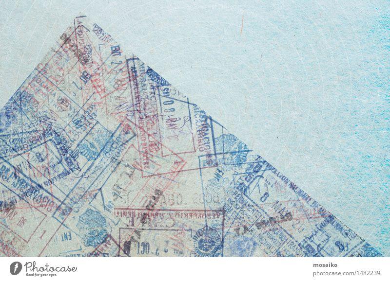 Pass Design Ferien & Urlaub & Reisen Tourismus Ferne Freiheit Safari retro Reisepass Ausweis Deportation Stempel anmelden Visa Kontrolle Grenze Migration