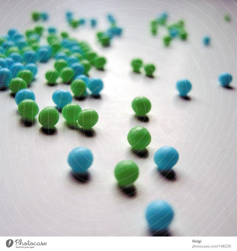 Kügelchen... blau grün weiß klein Dekoration & Verzierung mehrere Kochen & Garen & Backen süß rund viele lecker Süßwaren Kugel Schmuck Zucker rollen