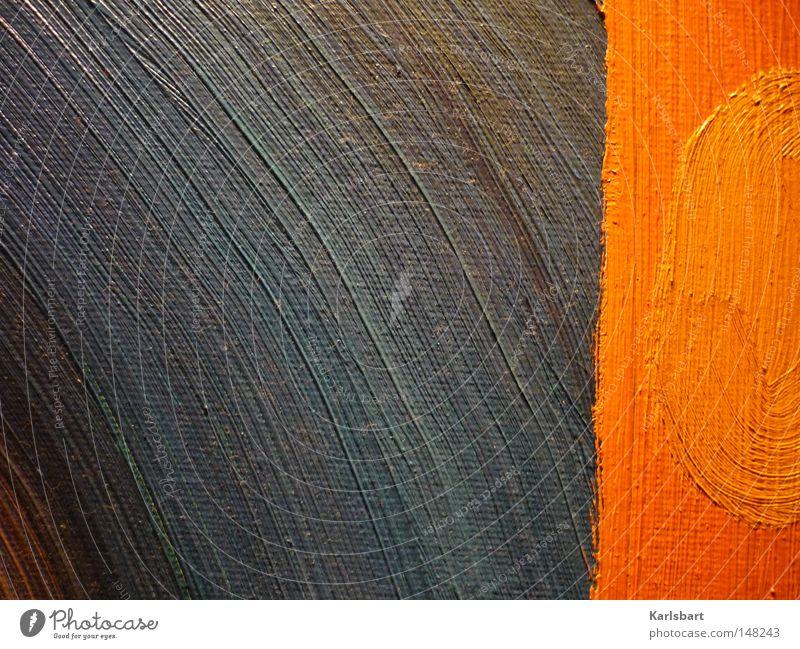 Das Schwinden der Kreise in Linien blau Sommer Winter Farbe gelb Herbst Wand Farbstoff klein Kunst Beleuchtung orange Orange groß Kraft