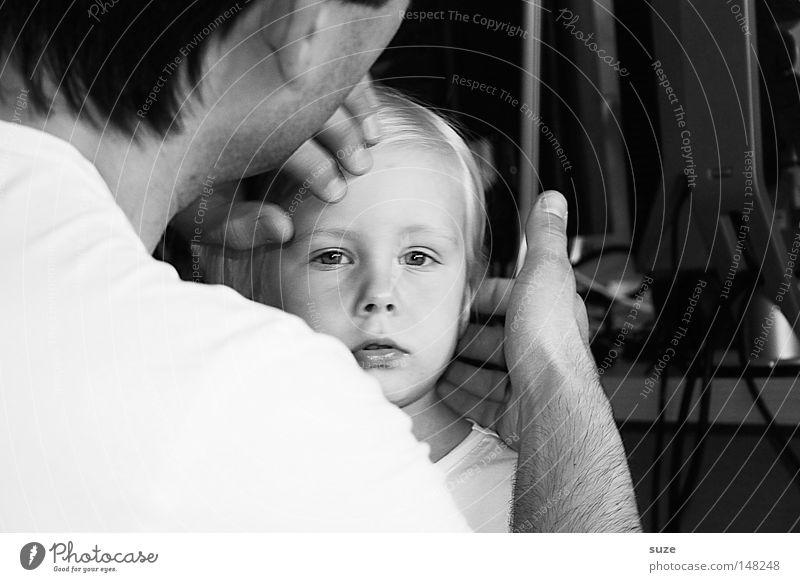 Schön schön Haare & Frisuren Gesicht Kind Mädchen Vater Erwachsene Familie & Verwandtschaft Kindheit 2 Mensch 3-8 Jahre blond Scheitel klein modern