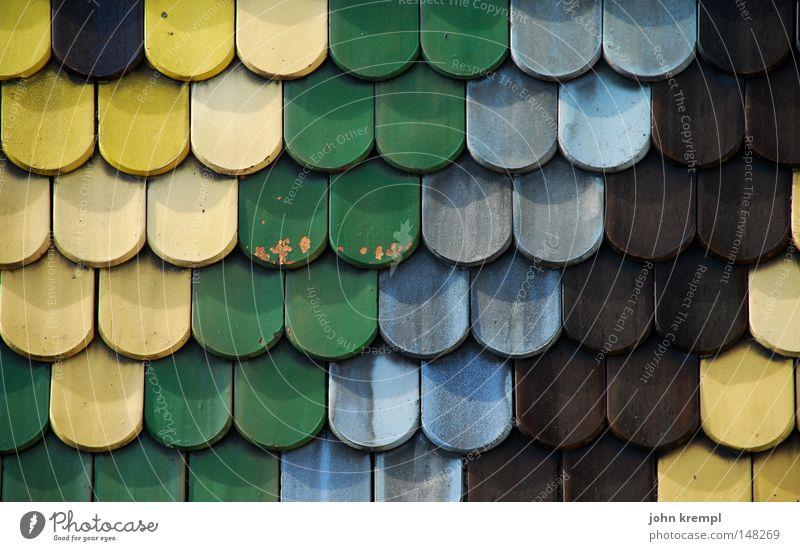 knusper knusper knäuschen grün blau gelb braun Dach Denkmal Wahrzeichen Wien Dachziegel Gotteshäuser Symbole & Metaphern Kunst Stephansdom