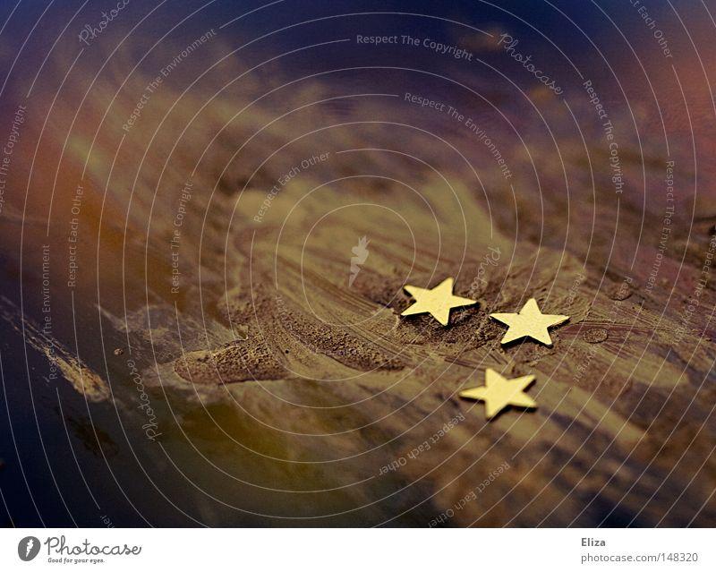 *** blau Weihnachten & Advent schön Winter Farbe Spielen Wärme Stimmung Lampe hell Feste & Feiern glänzend gold Stern (Symbol) außergewöhnlich Stoff