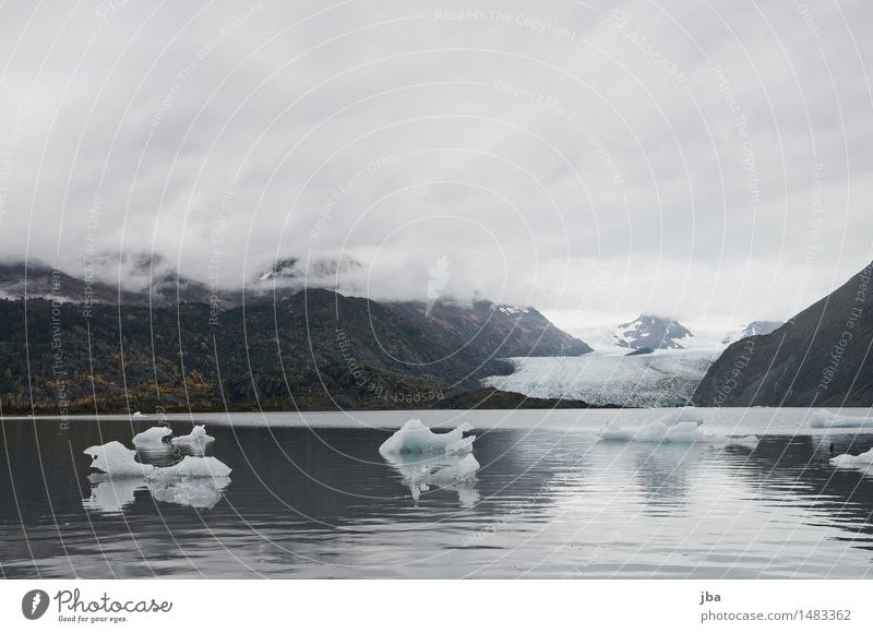 Grewingk Glacier Lake - Alaska 15 ruhig Ausflug Schnee wandern Natur Urelemente Wasser Wolken Herbst schlechtes Wetter Wald Berge u. Gebirge Gletscher Wellen