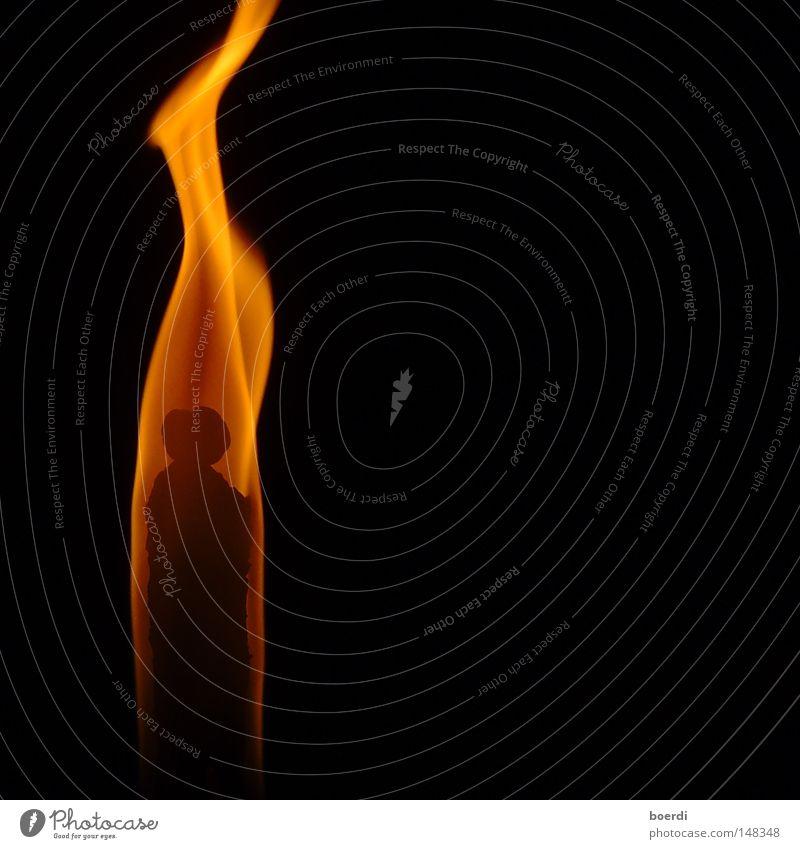 eRscheinung Weihnachten & Advent schwarz gelb dunkel orange Brand Geburtstag Feuer Kerze Romantik Konzentration brennen Flamme Low Key