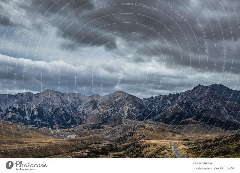 Ruhe Natur Landschaft Erde Himmel Wolken Gewitterwolken Unwetter Felsen Berge u. Gebirge Gipfel beobachten fahren Ferien & Urlaub & Reisen ästhetisch bedrohlich
