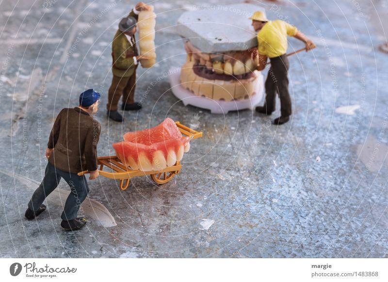 Miniwelten - Zahnsanierung Transport Ernährung Modellbau Arbeit & Erwerbstätigkeit Beruf Handwerker Arzt Baustelle Dienstleistungsgewerbe Gesundheitswesen