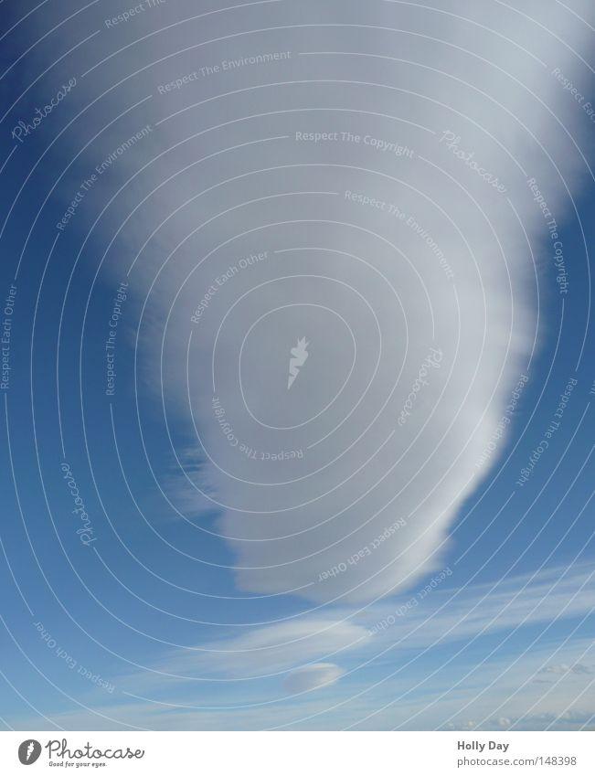 ! Himmel weiß blau Wolken Kommunizieren Schriftzeichen weich Buchstaben lang Watte blau-weiß Ausrufezeichen weiß-blau Satzzeichen