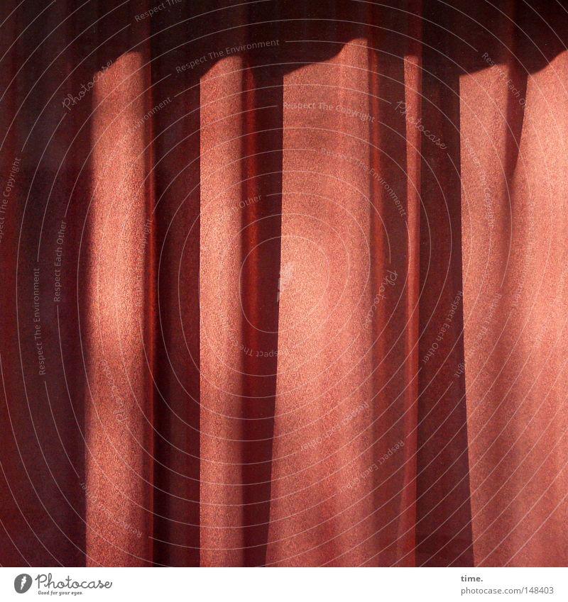 For Joni 65 Today ruhig rosa Vorhang Gardine Faltenwurf geschlossen Erinnerung Detailaufnahme Licht Schatten Sonnenstrahlen Bühne Theater