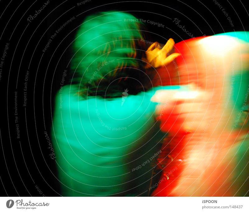 Zombies Ate Her Brain Frau Mann Hand grün Gesicht schwarz Bewegung Musik Haare & Frisuren Tanzen orange Konzert Dame Kapuze