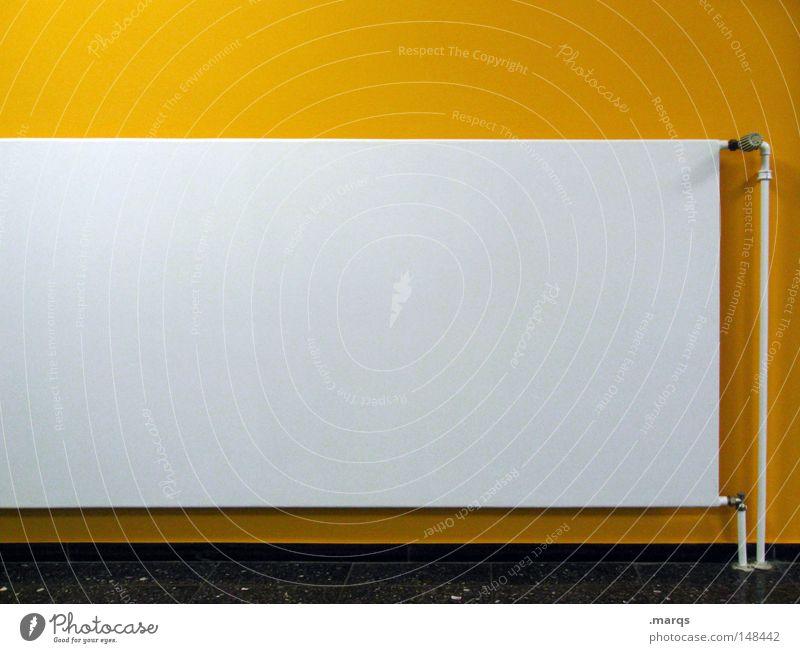 Einheizen gelb grau Wärme Linie Umwelt Industrie Energiewirtschaft ästhetisch Häusliches Leben Innenarchitektur außergewöhnlich Röhren Geometrie Heizkörper