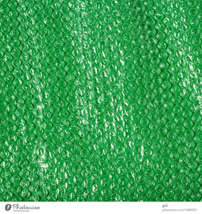 Luftpolsterfolie Verpackung Kunststoffverpackung grün Vertrauen Sicherheit Schutz Farbfoto Innenaufnahme Studioaufnahme Nahaufnahme Menschenleer