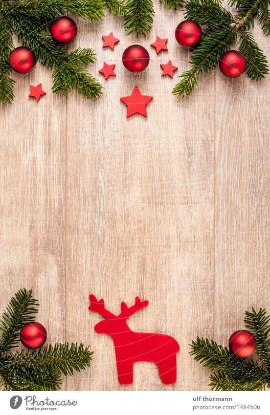 Weihnachten Hintergrund Wohlgefühl Erholung ruhig Winter Wohnung Dekoration & Verzierung Tisch Feste & Feiern Weihnachten & Advent Christbaumkugel Tannenzweig