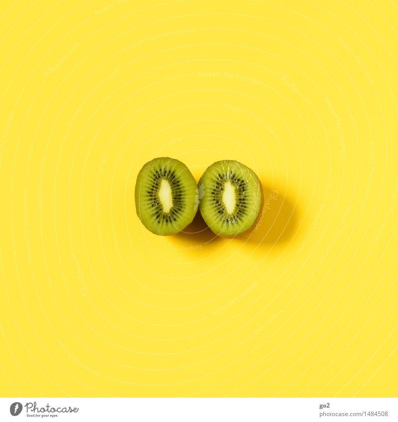 Kiwi Lebensmittel Frucht Ernährung Bioprodukte Vegetarische Ernährung Diät Fasten Gesunde Ernährung ästhetisch einfach frisch Gesundheit lecker saftig gelb grün
