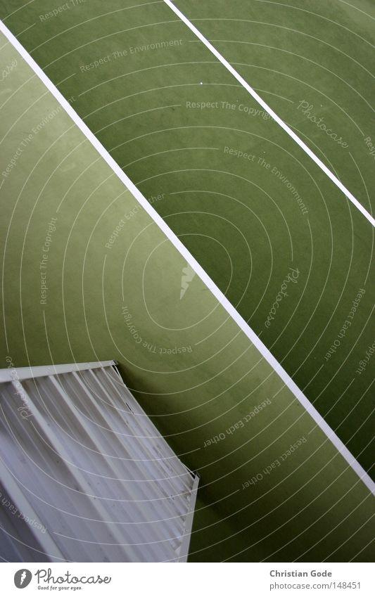 Schiedsrichterstuhlkamera (Hawkeye) weiß grün Winter Spielen springen Linie Freizeit & Hobby Treppe Geschwindigkeit Erfolg Netz diagonal Lagerhalle Tennis