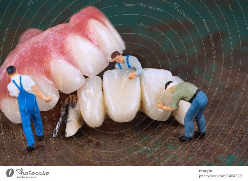 Miniwelten - Zahnreinigung II Mensch Mann Erwachsene Gesundheitswesen Metall Arbeit & Erwerbstätigkeit maskulin Mund Baustelle Reinigen Zähne Beruf