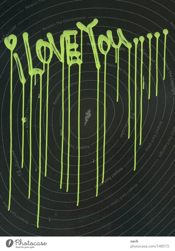 Verflossene Liebe Graffiti Wand Fassade Schriftzeichen Buchstaben Ziffern & Zahlen Romantik Vergänglichkeit Trauer Tropfen Zeichen Information Typographie