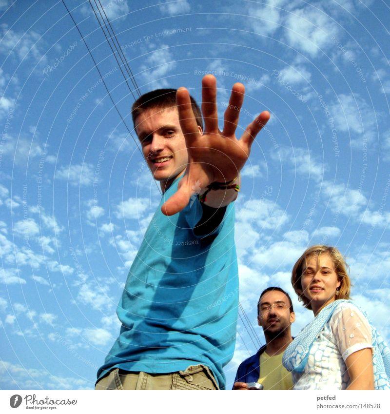 WE Frau Mensch Mann Jugendliche Himmel blau Sommer Freude Ferien & Urlaub & Reisen Wolken Leben Freundschaft Fröhlichkeit Asien Indien