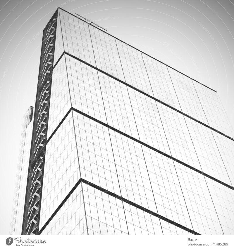 Finanzviertel und Fenster Stadt weiß schwarz Architektur Gebäude Business Fassade Metall Arbeit & Erwerbstätigkeit Büro modern Hochhaus Aussicht hoch Platz