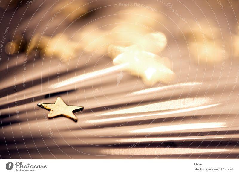 Milchstraße Weihnachten & Advent Feste & Feiern gold glänzend Stern (Symbol) Stoff Dekoration & Verzierung Symbole & Metaphern Weihnachtsdekoration schimmern