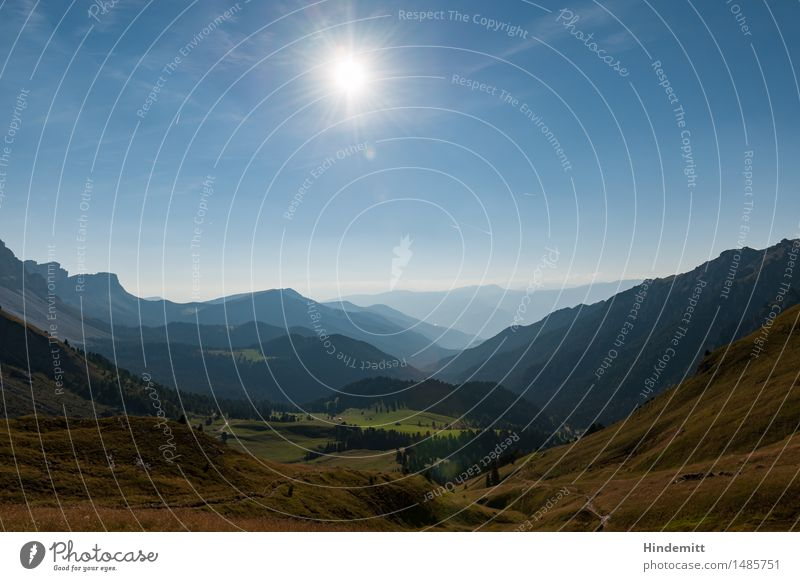 Villnößtal Natur blau grün Landschaft Wald Berge u. Gebirge Umwelt Wärme braun hell Felsen glänzend Tourismus Zufriedenheit Wetter leuchten