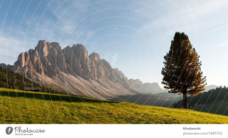 Gegen Abend Himmel Natur Ferien & Urlaub & Reisen Pflanze blau grün Sommer Baum Landschaft Wolken Wald Berge u. Gebirge Umwelt Wiese Felsen Tourismus