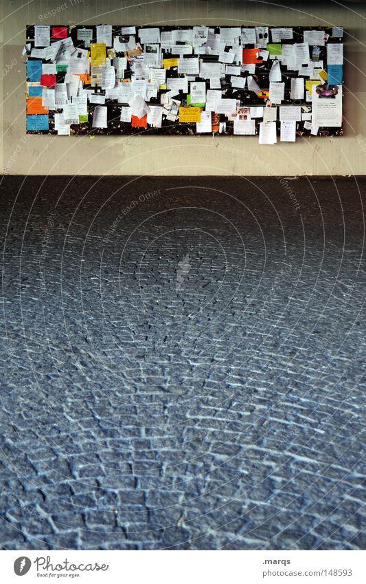 Kleinanzeige Freude Tafel Zusammensein Bildung Schilder & Markierungen Papier Studium Schriftzeichen Kommunizieren Hinweisschild Information Beruf