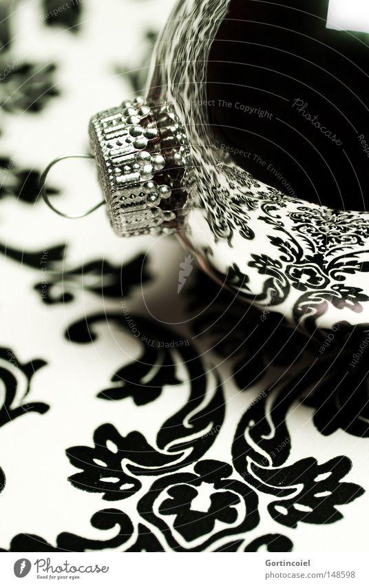 Shine Lifestyle Reichtum elegant Stil Design Winter Dekoration & Verzierung Feste & Feiern Ornament glänzend Kitsch schwarz silber weiß Weihnachtsdekoration