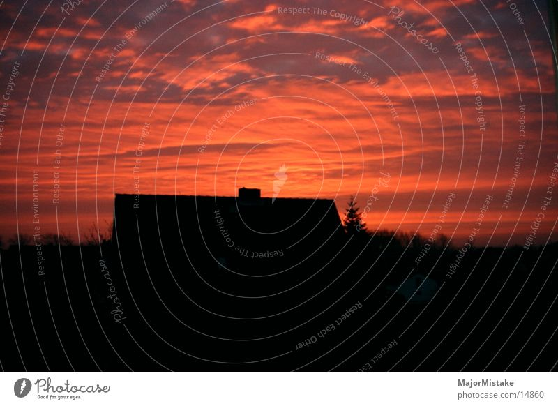 Sonnenuntergang Haus Wärme
