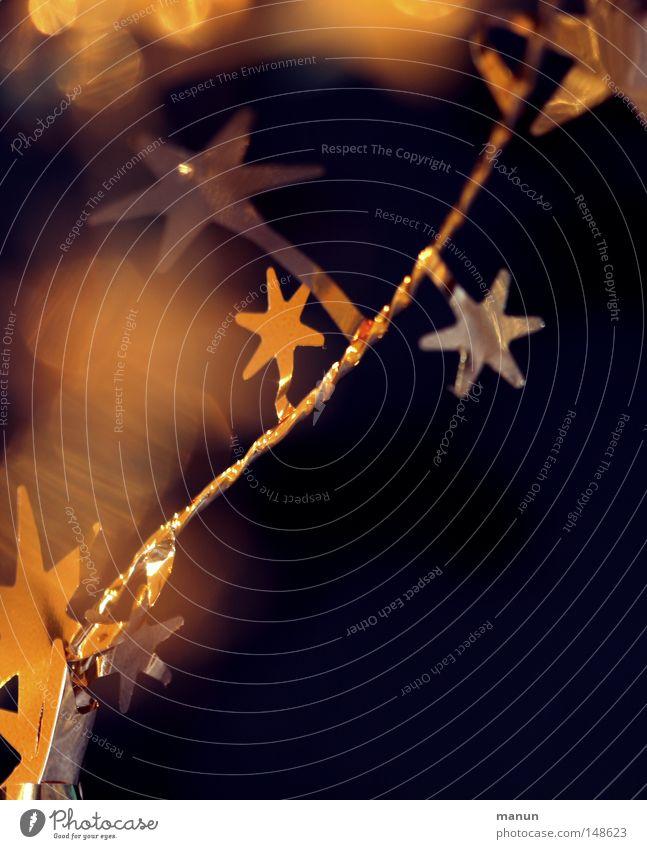 Goldsternchen Weihnachten & Advent Winter gelb Stimmung Lampe Feste & Feiern glänzend gold Stern (Symbol) Dekoration & Verzierung Schmuck Dezember