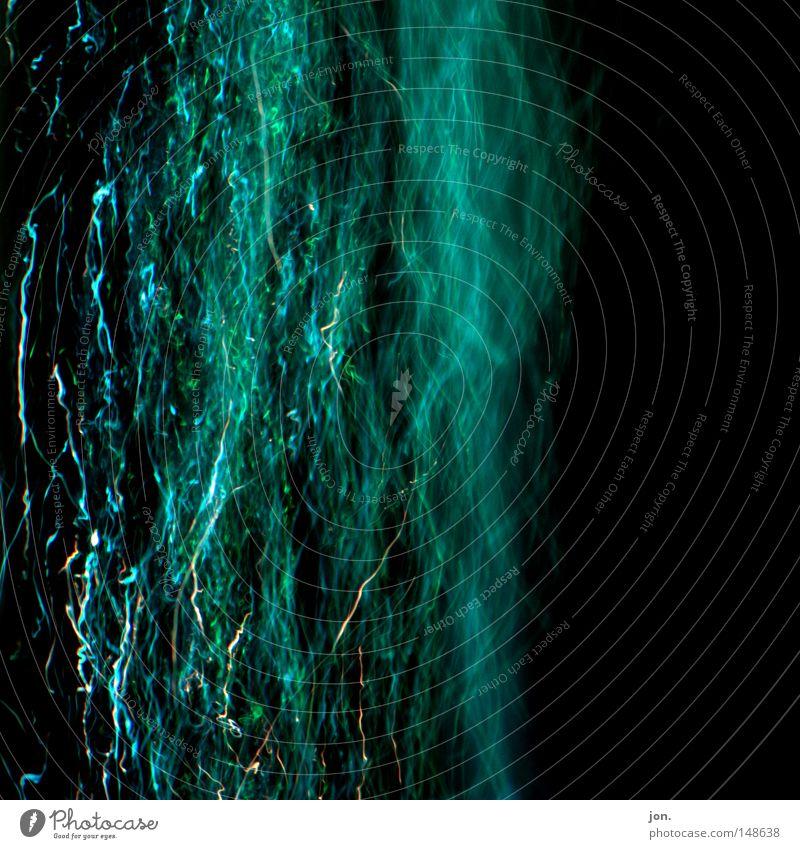Blauer Dunst Wasser blau schwarz dunkel Bewegung Lampe Nebel Energiewirtschaft Elektrizität Fluss Club Quadrat Rauch blasen Gewitter Luftblase