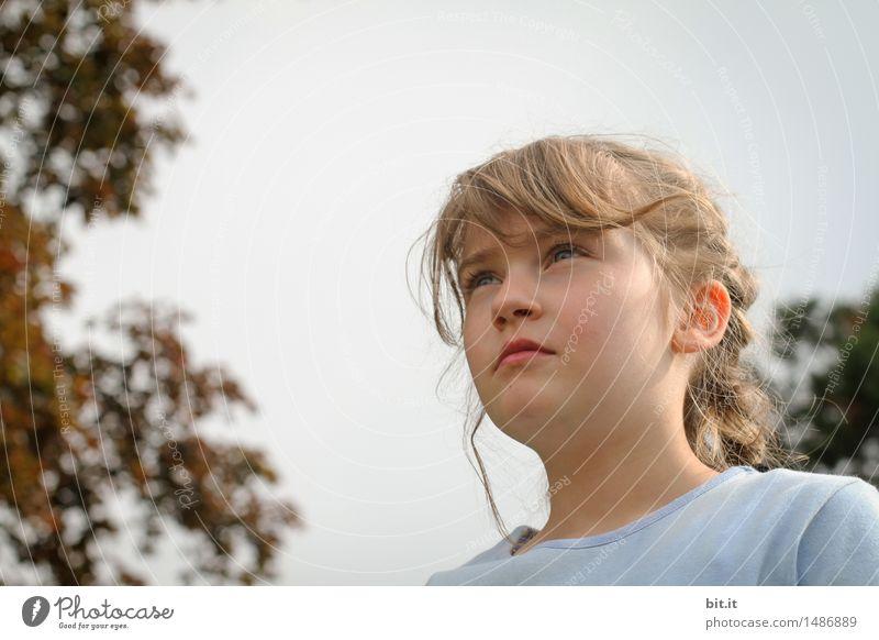 was ist da vorn ? Mensch feminin Kind Mädchen Kindheit Traurigkeit Angst beobachten Neugier Farbfoto Blick nach vorn