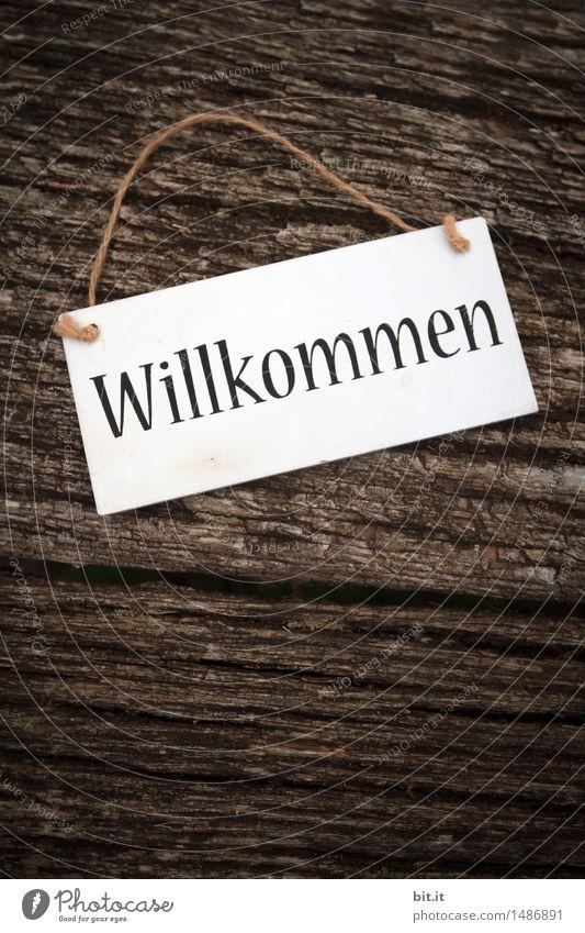 Willkommen Ferien & Urlaub & Reisen Tourismus Häusliches Leben Wohnung Veranstaltung Restaurant Feste & Feiern Dekoration & Verzierung Holz Schriftzeichen