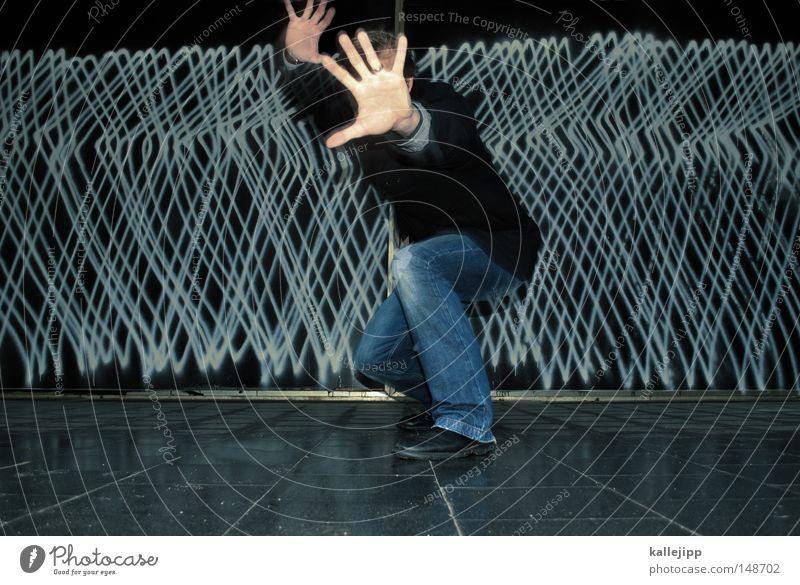 paparazzo springen Freude Sprunggelenk Bewegung Politische Bewegungen Schmuck Design Tanzveranstaltung Flugzeug Schweben Hand Handfläche stoppen Aktion Graffiti