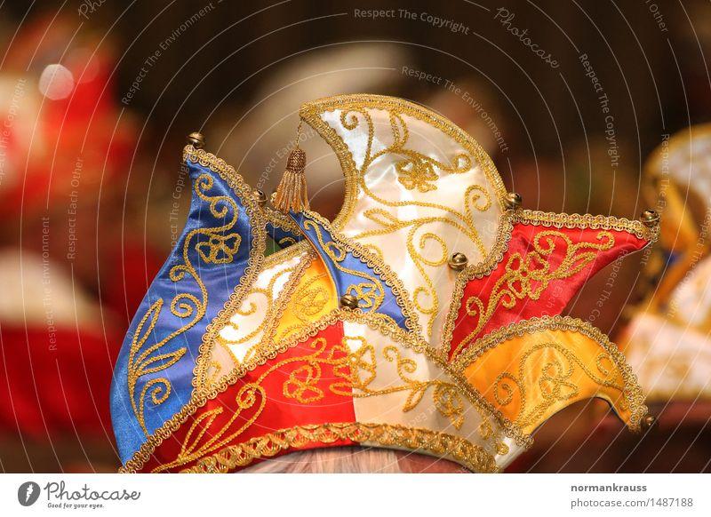 Narrenkappe maskulin 1 Mensch Veranstaltung Stoff Mütze Feste & Feiern Fröhlichkeit lustig mehrfarbig Freizeit & Hobby Freude Kultur Stimmung Karneval Kleidung