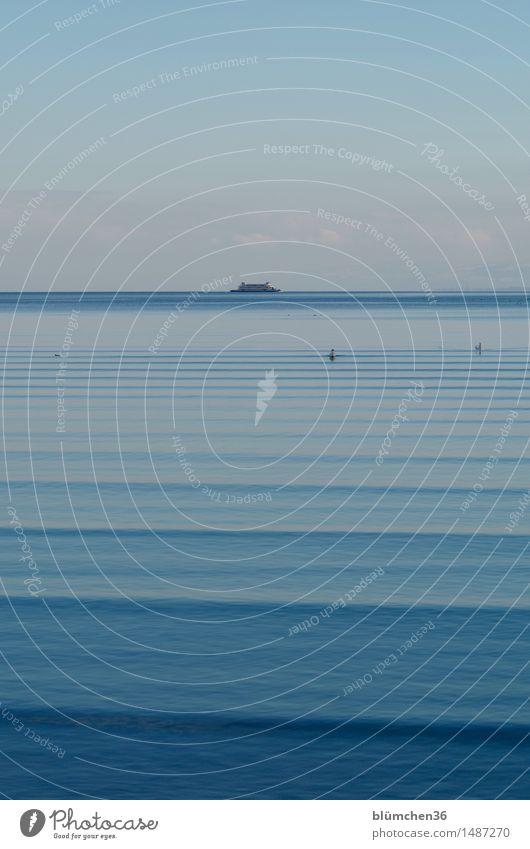Jetzt fahrn wir übern See! Umwelt Natur Himmel Wellen Bodensee Binnenschifffahrt Fähre authentisch natürlich blau Tourismus Ferien & Urlaub & Reisen