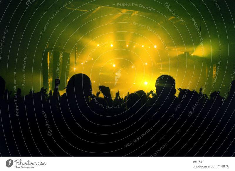 LiveLight live Dresden Konzert Party grün Lampe Licht Lightshow Musik Moby 2002 Publikum Audience Klang Scheinwerfer Lichterscheinung on stage