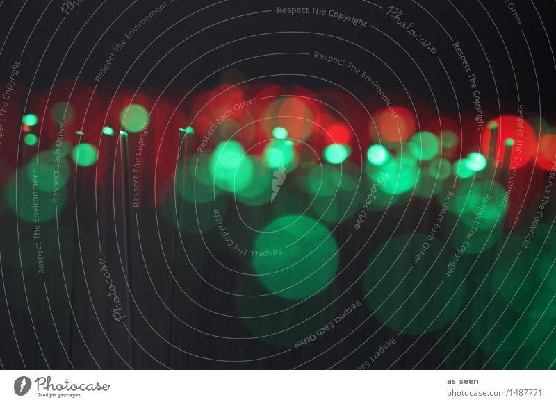 Green lights grün Farbe rot schwarz Leben Design glänzend modern Musik Tanzen Technik & Technologie Zukunft Computer Telekommunikation Netzwerk Show