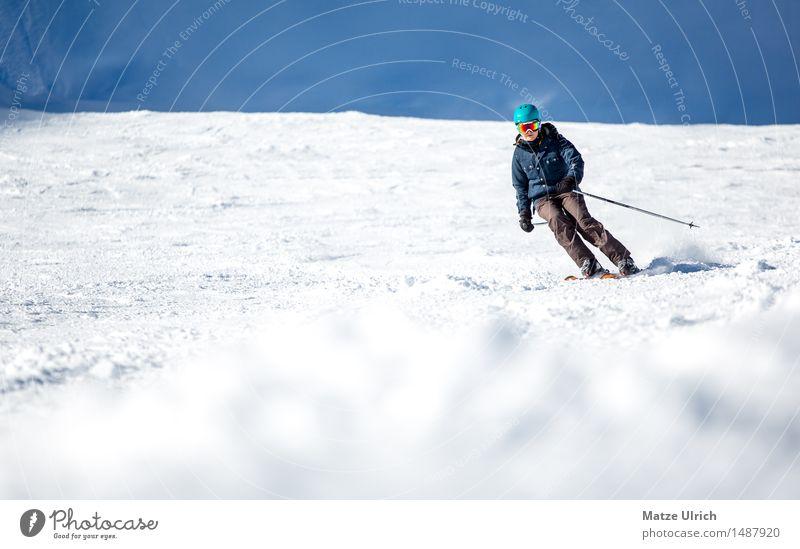 Skilady 2 Sport Wintersport Skifahren Skier Free-Ski Skipiste feminin 1 Mensch Umwelt Natur Sonnenlicht Schönes Wetter Schnee Hügel Felsen Alpen