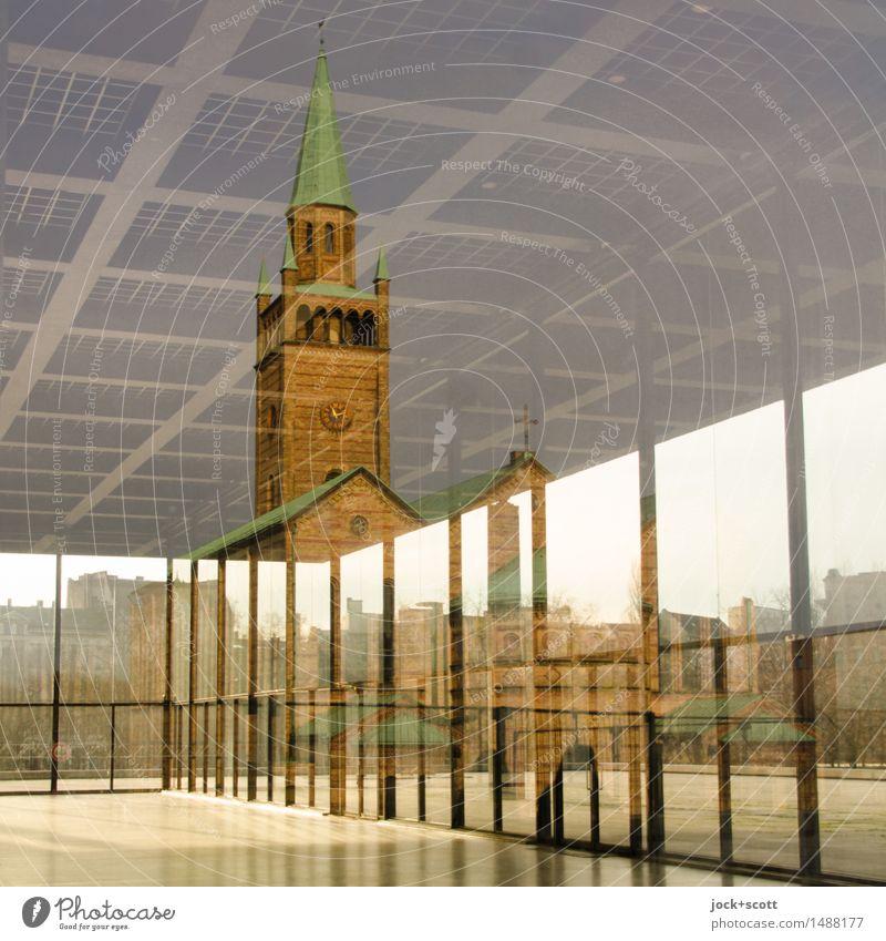 alt trifft neu in Mitte Museum Bauhaus Kirche Bauwerk Architektur Sehenswürdigkeit Bekanntheit eckig historisch innovativ modern Stil Surrealismus Einblick