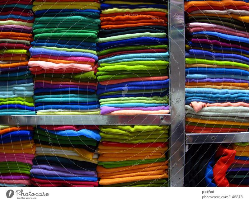 Dupatta store in India Sommer Ferien & Urlaub & Reisen Farbe mehrfarbig Bekleidung mehrere Stoff Asien viele Ladengeschäft Indien Material verkaufen exotisch Schal Regal